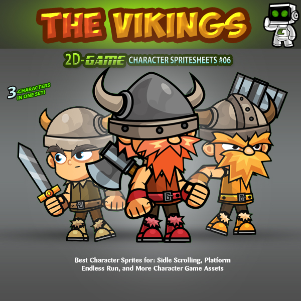 the vikings 2d game character sprite sheets 06 | gamepro market